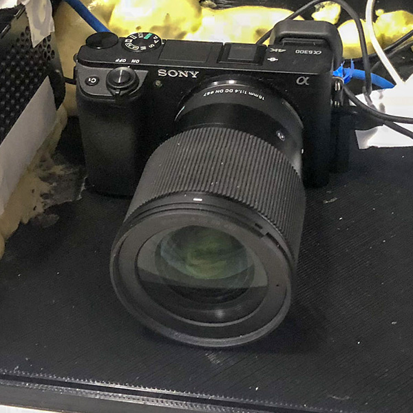 Sony mirrorless camera with Sigma 16mm low light lens