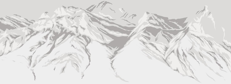 Chugach mountains and glaciers in Alaska