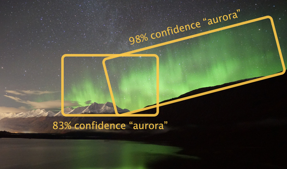 image recognition of northern lights with AWS Rekognition