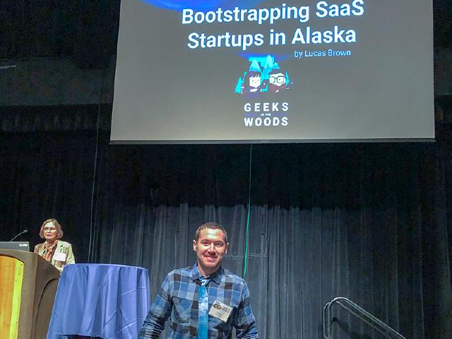 presenting Bootstrapping SaaS Startups in Alaska at Innovation Summit in Juneau