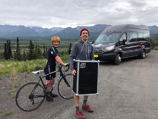 play the music and share the love with other cyclists when biking in Alaska