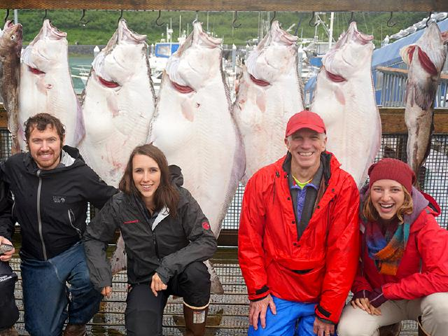 startup team after remote excursion and adventure fishing for Halibut from Port Valdez
