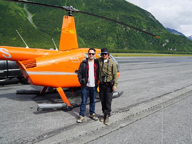 sales executive and entrepreneur on helicopter tour Valdez with VS Helicopters