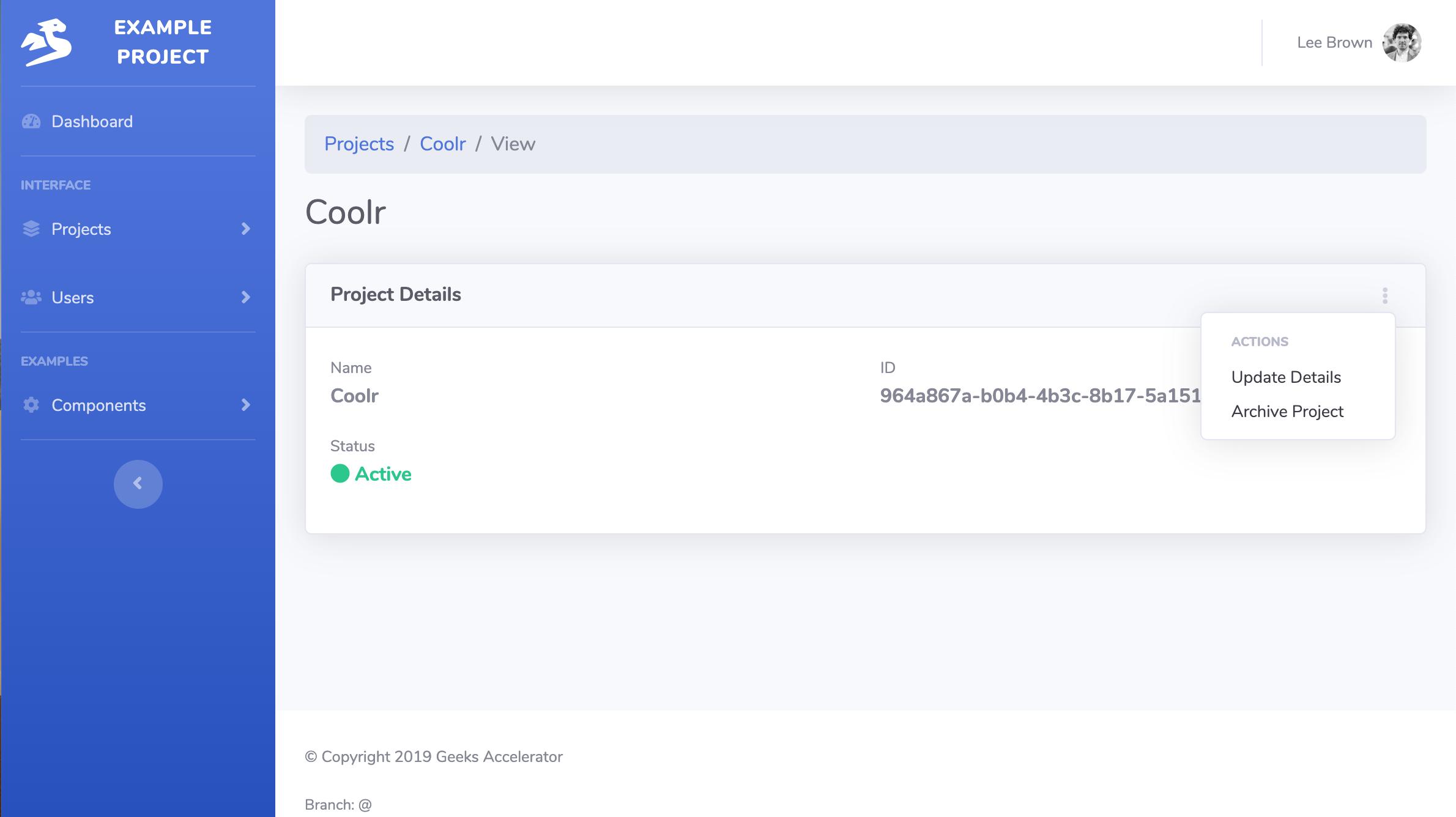 CRUD for Web App in SaaS Startup Kit
