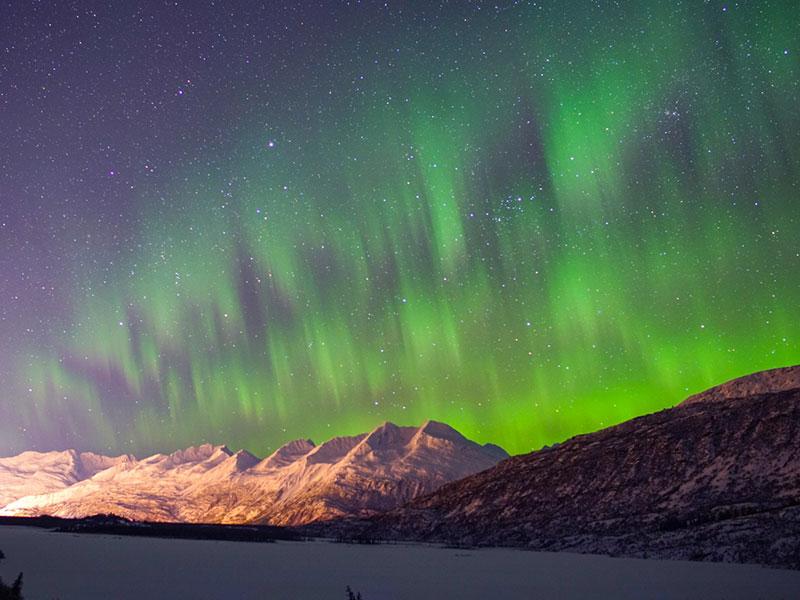 best aurora viewing in Valdez at Robe Lake watching Northern Lights