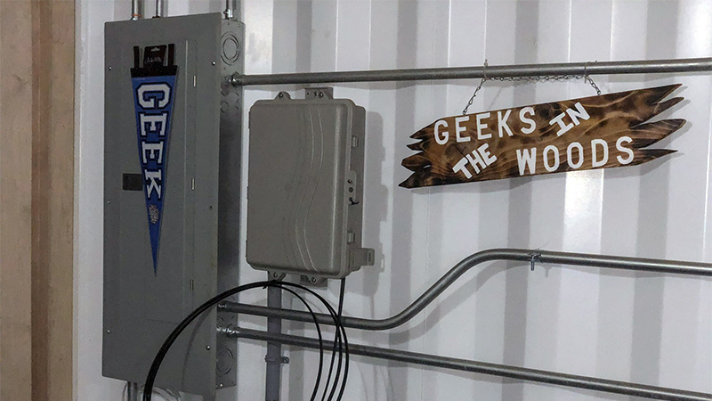 fiber from copper valley telecom at geeks in the woods valdez