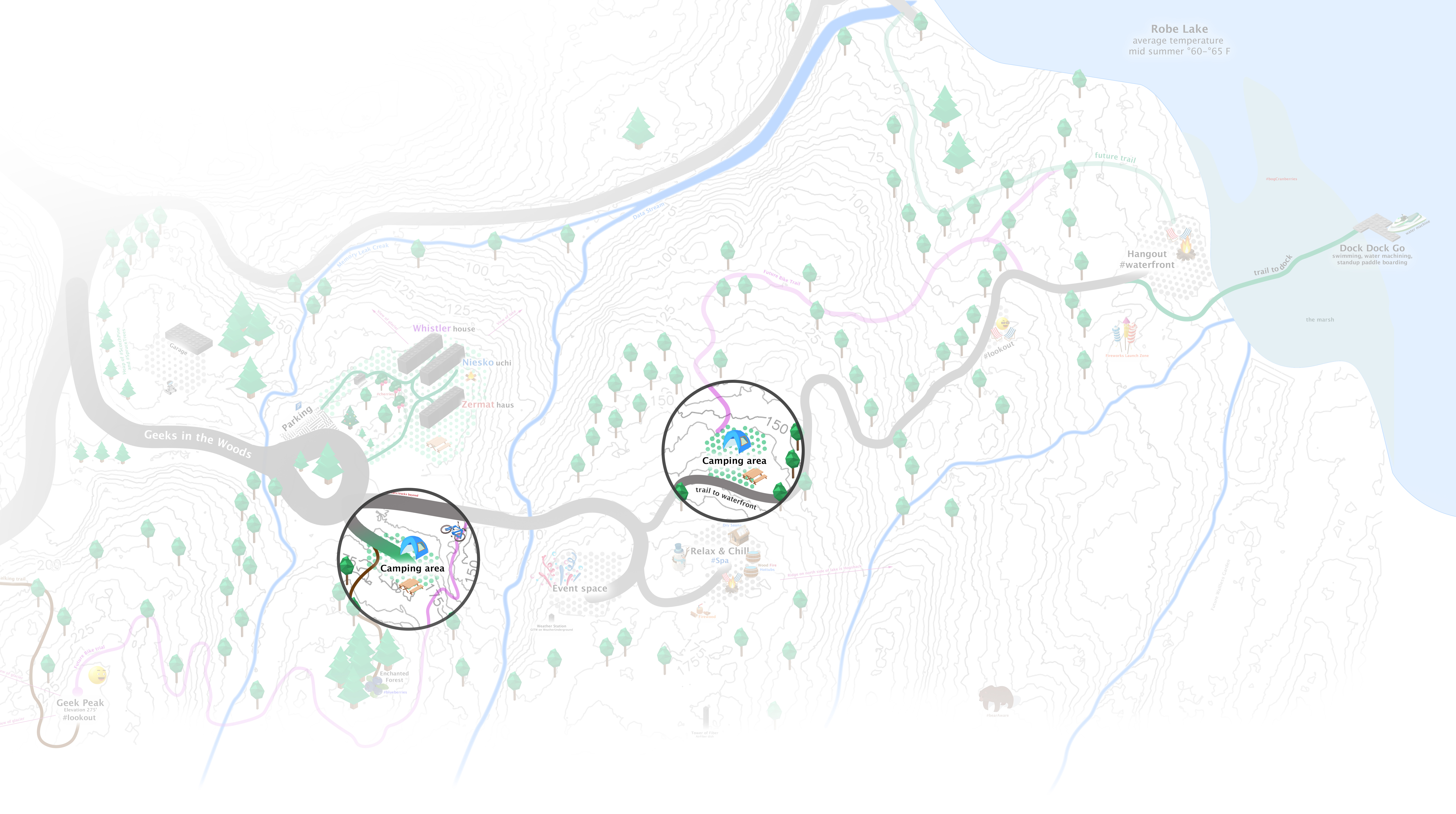 map of camping areas in valdez