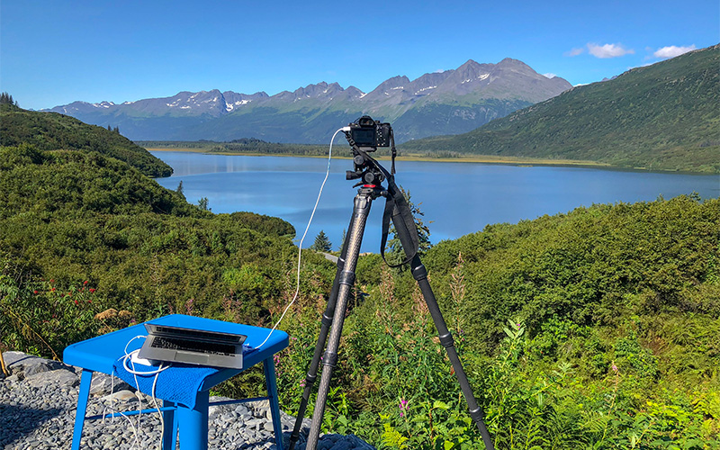 programmatic photography with Sony A6300 from automated python script in Alaska