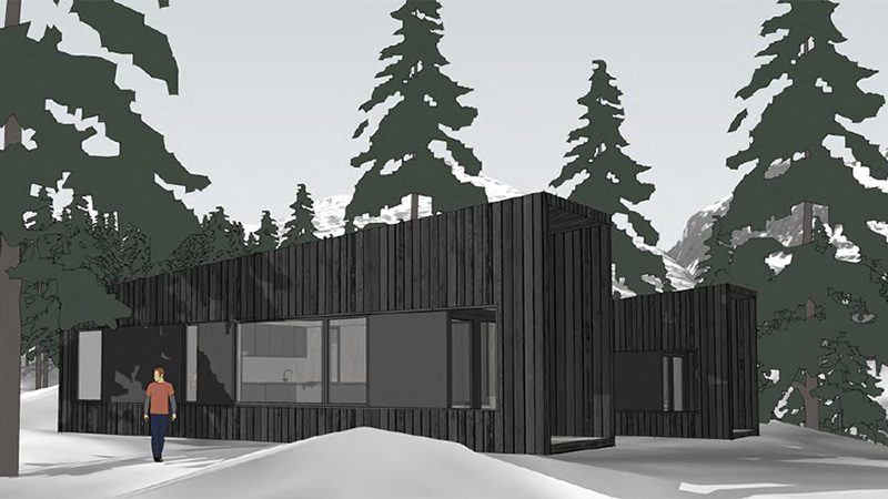 concept of smart Nordic living in Alaska
