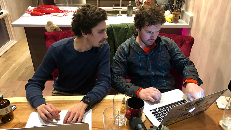 Lee and Jeff coding GOlang from Valdez where remote and connected