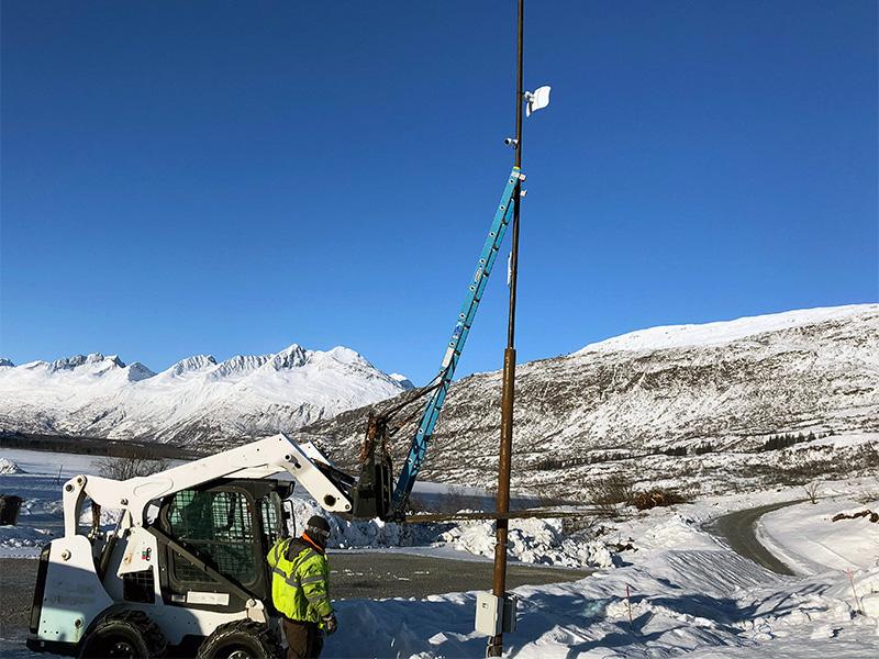 installing ubiquity mesh gigabit WiFI during winter in Alaska