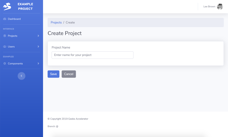 Go code example to Create Object in SaaS Web App