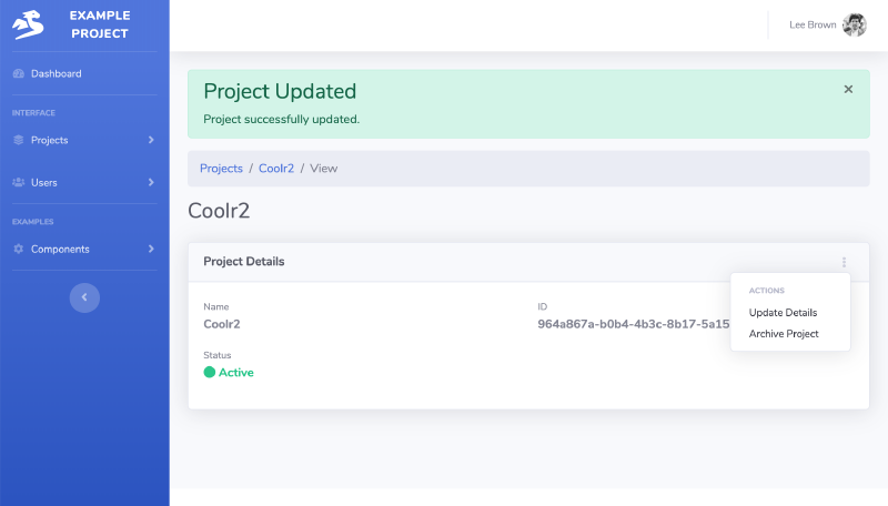 Go code example updating Object in SaaS Web App