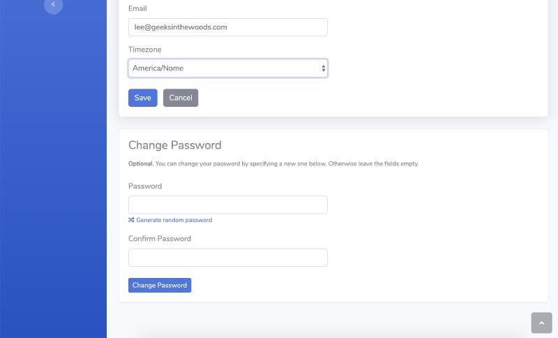 example Go code of user password change in SaaS web app