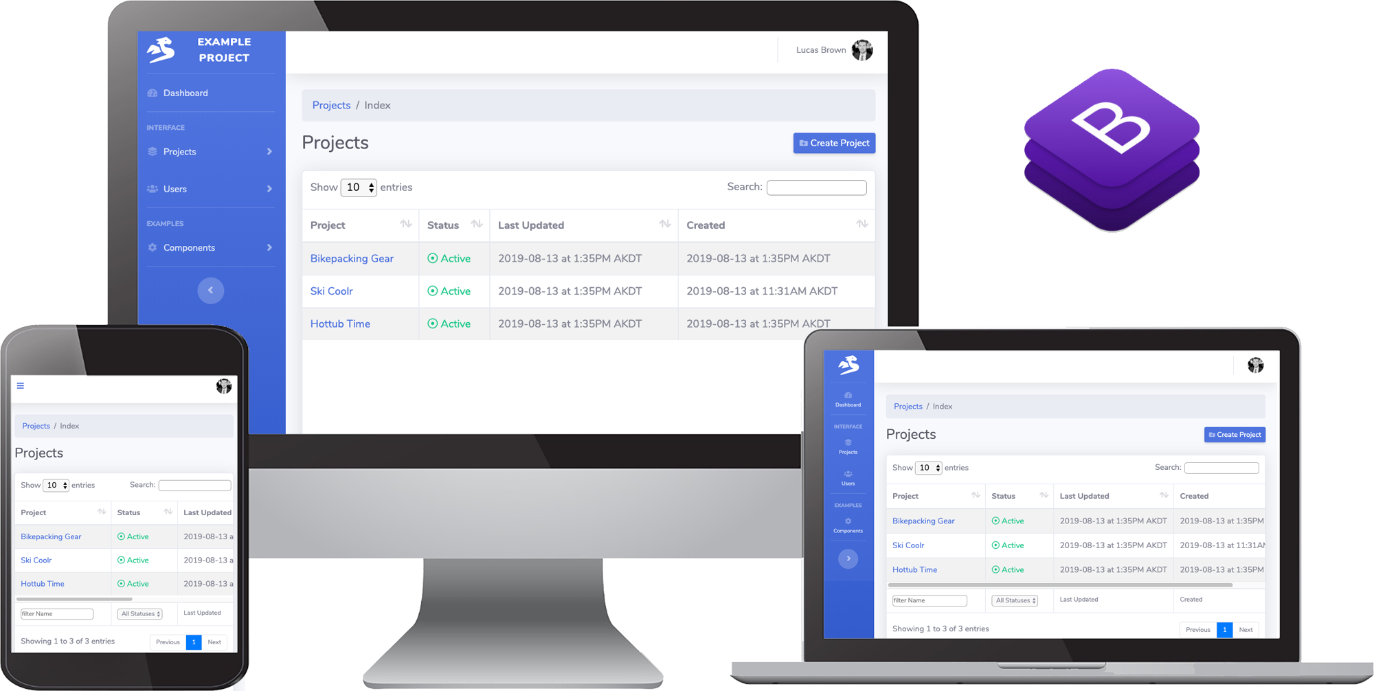 Bootstrap UI for SaaS Go Web App