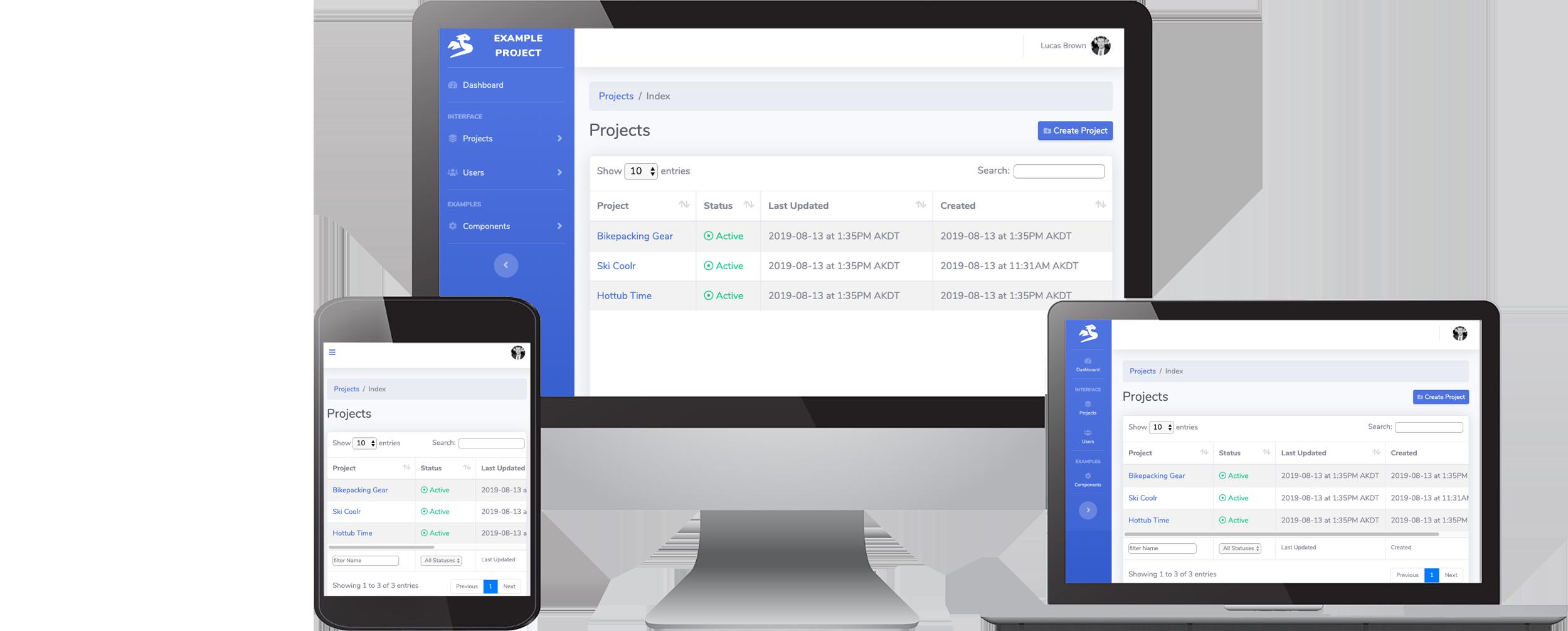 Go boilerplate code for responsive web app