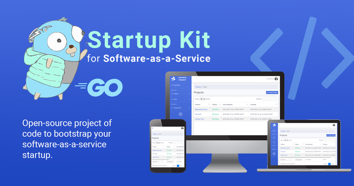 Startup Kit for SaaS in Golang